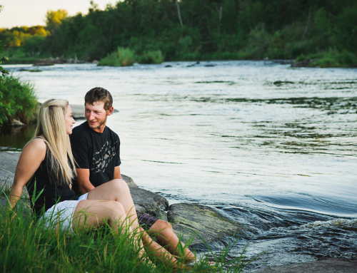 Engagement Photographer at Seven Sisters Falls, Whitemouth Manitoba | Candice and Jamie | Prairie and Pine